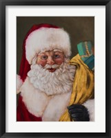 Framed Jolly Saint Nick