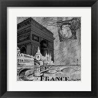 Framed Parisian Wall Black II