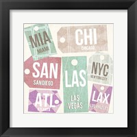 City Tags Square I Framed Print