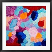 Framed Flower Amoebic Party I