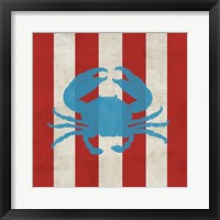 Primary Striped Coastal I Framed Print