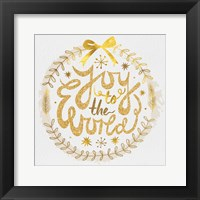 Framed White Christmas Wreath I