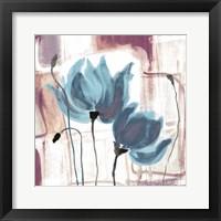 Blue Magnolias II Framed Print