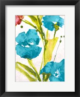 Blue and Pink le Povat I Framed Print