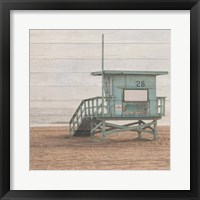 Framed Life Guard White Wash