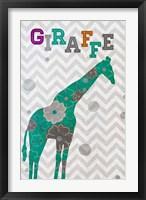 Framed Emerald Giraffe