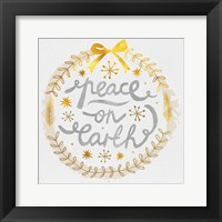 Framed White Christmas Wreath VI