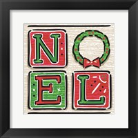 Framed Noel and Santa II
