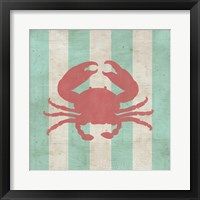 Coastal Stripe I Framed Print