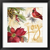 Framed Christmas Poinsettia I