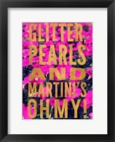 Glittery Flower III Framed Print