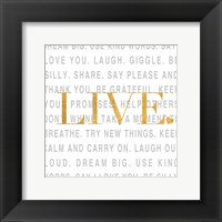 Gold Love and Life II Framed Print