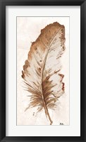Framed Brown Watercolor Feather II