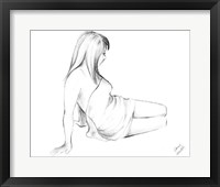 Waking Woman On White I Framed Print