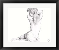 Waking Woman On White II Framed Print
