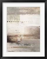 Gray Warmth Coming Through I Framed Print