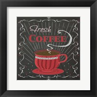 Coffee Chalk Square I Framed Print