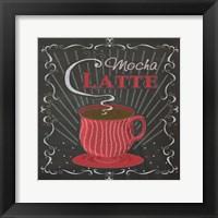 Coffee Chalk Square II Framed Print