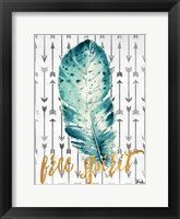 Framed Free Spirit Feather