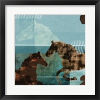 Around the Stable I Framed Print