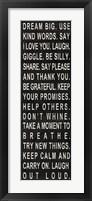Framed Dream Big (use kind words)