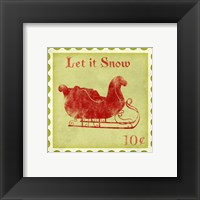 Holiday Stamp III Framed Print