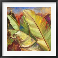 Through the Leaves Square I Framed Print