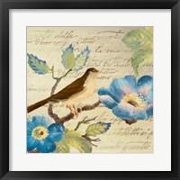 Avian on Blue II Framed Print