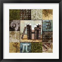 Escape to the Library I Framed Print