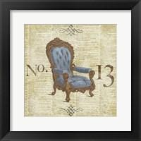 Blue Simply Ornate II Framed Print
