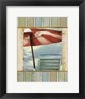 Chaise de Plage II Framed Print