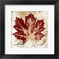 Framed Live Leaf
