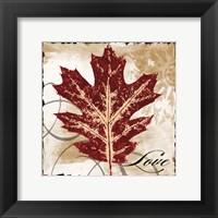 Framed Love Leaf
