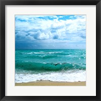 Teal Surf II Framed Print