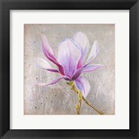 Magnolia on Silver Leaf II Framed Print