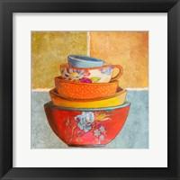 Collage Bowls I Framed Print