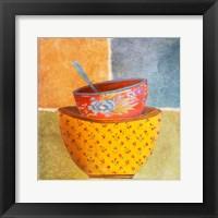 Collage Bowls II Framed Print