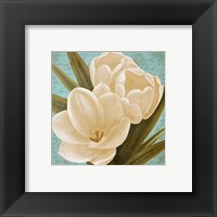 Framed Blue Morning Tulips I