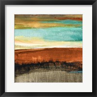 Rustic Sea Square I Framed Print