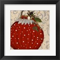 Red Ornament I Framed Print