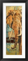 New Safari on Teal II Framed Print