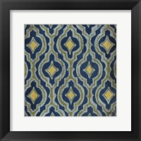 Olive and Indigo Modele II Framed Print