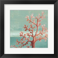 Teal Coral Reef I Framed Print