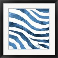 Watercolor Zebra II Framed Print