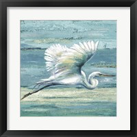 Framed Great Egret I