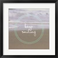 Framed Keep Smiling