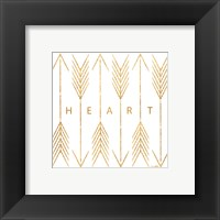 Cupid's Arrows Gold I Framed Print