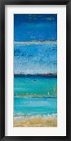 The Sea Panel II Framed Print
