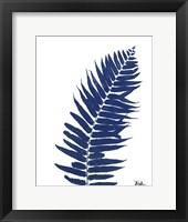 Indigo Ferns I Framed Print