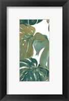 Teal Touch Panel I Framed Print